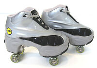 Quad KICK ROLLER Skates retractable WALKnROLL in/outdoor ORIGINAL BN Silver/grey