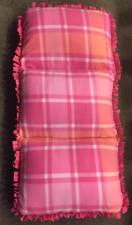 Homemade Fleece Caterpillar Bed/Chair - Pink Plaid