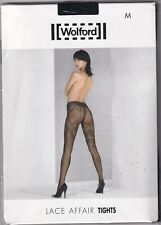 Collant WOLFORD LACE AFFAIR coloris Black. Taille M. Tights.