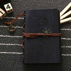 Black Pirate Retro Vintage Pocket PU Leather Notebook Kraft Diary Travel Journal