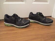 Used Worn Size 12 Nike Air Max 2010 Shoes Black, Electric Green, White