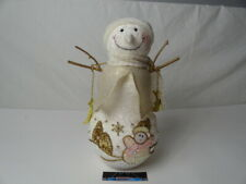 """Snowman Decoration Approx. 12"""", Christmas Gold Accents"""