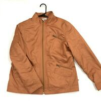 Chicos Zenergy Womens Jacket Windbreaker Size 2 Zip Up Long Sleeve Orange