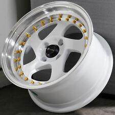 15x8 White Wheels Vors VR2 4x100 20 (Set of 4)  73.1