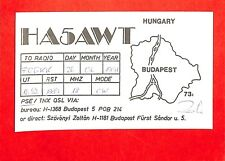 HONGRIE HUNGARY CARTE RADIO AMATEUR HAM RADIO QSL CARD 1991