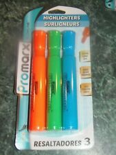 Promarx HIGHLIGHTERS - ORANGE/GREEN/BLUE - 3 Count    (SS-2)