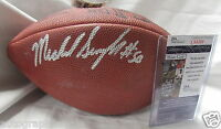 Mike Singletary signed autograph autographed Wilson NFL game model football JSA