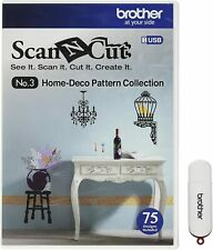 New Brother Scan N Cut HOME DECOR COLLECTION USB No 3 - 75 Designs