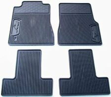 2005-2009 Ford Mustang OEM Ford Black Rubber All Weather Floor Mat Set 4-pc NEW