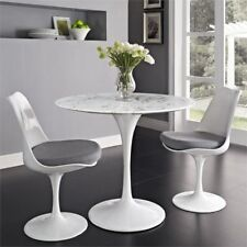 Modway Eei 1129 Whi Lippa 36 Inch Artificial Marble Dining Table In White