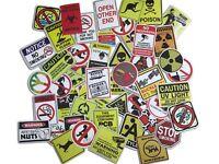 50 warning theme waterproof sticker skateboards bicycle PC Graffiti Decals Mix