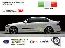 Modanature BMW SERIE 3 E90 esterne laterali in gomma per adesivi salva para urti