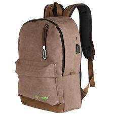 Canvas Backpack Travel Sport Rucksack Satchel Hiking School Bag 10- pack