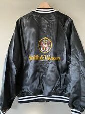 Vintage 90s Smith & Wesson Satin Bomber Jacket Rare Size Xl Made in Usa