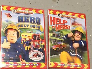 Lot of 2 Fireman Sam DVDs: Hero NextDoor and Help Is Here. Free Shipping