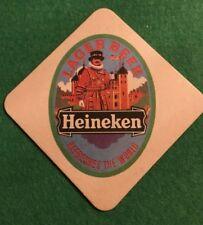 VINTAGE  BEER MAT COASTER - TWO SIDED - HEINEKEN  (FF25)