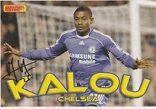 SALOMON KALOU Chelsea 2006-2012 originale firmato a mano Rivista di taglio