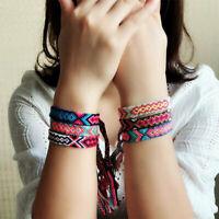 Braided Woven Thread Friendship Handmade Rope Bohemian Bracelet Pretty Item