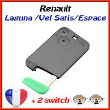 Boitier Plip Coque Carte Cle Renault Laguna Vel Satis Espace 2 boutons /+2 swith