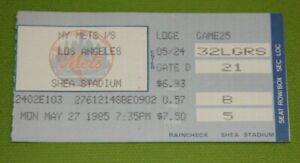 New York Mets Ticket Stub | May 27 1985 | Keith Hernandez HR