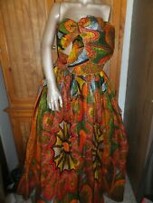 Ethnic Maxi Skirt & Scarf African wax print cloth cotton Advance Apparel 1 Size