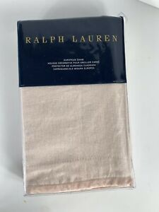 Ralph Lauren European Sham Olivia Clotilde Blush Pink 26x26 MSRP$215 NIP