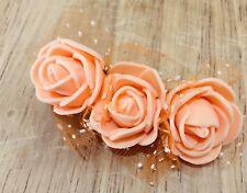 Molletta Capelli Fatto A Mano Color Arancione Damigella Bambina Arancione Spugna