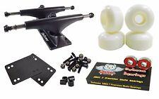 Owlsome 5.0 Black Skateboard Trucks + 52mm Wheels + Abec 7 Bearings Combo