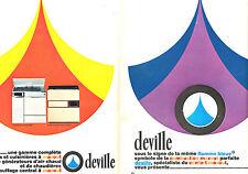 PUBLICITE ADVERTISING 114  1966 DEVILLE  gamme de poeles & gazinières mazout (2p