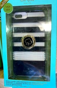 Kate Spade NY Ring Stand Case iPhone 7 Plus iPhone 8 Plus Stripes Black White