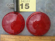 Pair Plastic red lenses like Lucas 488 Land Rover A30-a35 mini Morris Austin