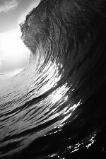 Wave Photo (Black and White) 8x12""