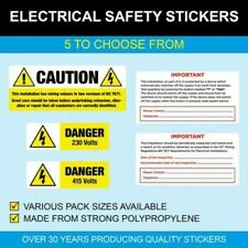 Electrical Safety Stickers