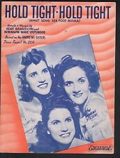 Hold Tight Hold Tight 1939 Andrews Sisters Sheet Music
