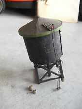"Vintage HO Scale Kit Built Wood Custom Black Water Tower Structure 6 1/4"" Tall"