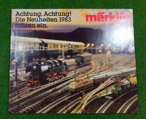 MÄRKLIN  >> Neuheiten-Prospekt 1983 << | deutsch | 18 Seiten | d153