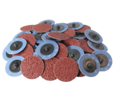 "50PC 2"" 36 Grit Roloc Rollo de óxido de aluminio lijado disco de bloqueo"