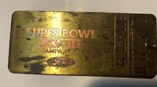 1984 Super Bowl XVIII Brass Ticket Keychain Redskins Vs Raiders Tampa Fl (wear)