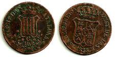 ISABEL II. 1838. 6 CUARTOS. PRINCIPADO DE CATALUÑA (BC+)