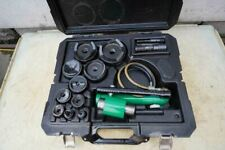 Greenlee Knock Out Hydraulic Punch And Die Set 7310 12 To 4 Nice Set Bg4b