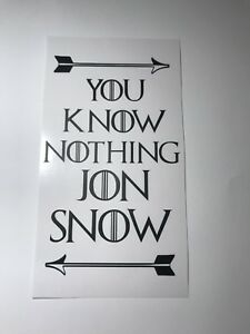 You Know Nothing Jon Snow Game Of Thrones Inspired Wine Bottle Vinyl  Decal