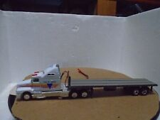 Ho scale tractor with flat bed trailer and Led/Smd lighting installed