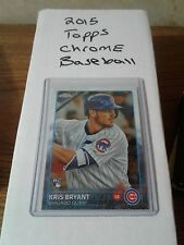 2015 topps chrome Kris Bryant complete set 200 cards
