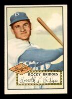 1952 Topps Set Break #239 Rocky Bridges EX *OBGcards*