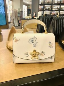 NWT Coach Micro Tilly Top handle Mini Crossbody Floral Dandelion Leather