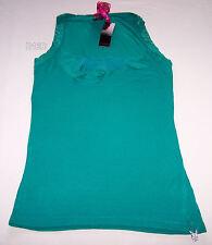 Playboy Ladies Teal Green Sleeveless Singlet Top Size 10 New