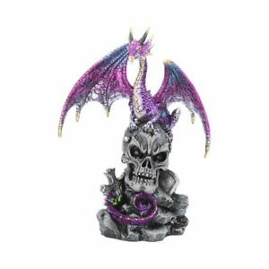 LOYAL DEFENDER 22.5cm Dragon Skull Gothic Figurine Ornament Nemesis Now FREE P+P