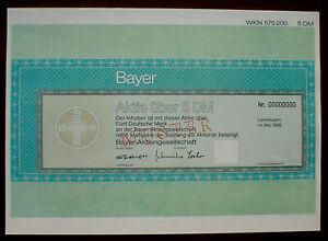 Bayer AG Aktie 5 DM Muster 1996