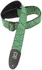 Levy's M8AS-GRN Classic Asian Jacquard Weave Guitar/Bass Strap-Green