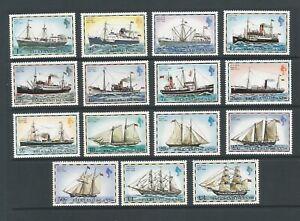Falkland Islands 1978 Mail Ships Unmounted Mint Set SG 331A/45B